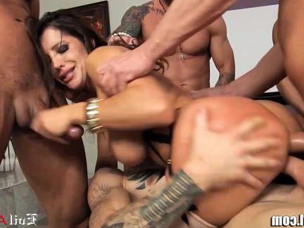 Милфа порно EvilAngel Распутная мамаша DP и лицевой групповуха секс видео