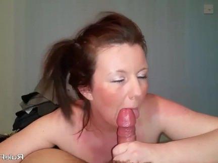 Милфа порно Хвостик жена Минет сосет и глотает сперму секс видео