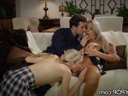 Милфа порно Нина Элль и Джеймс Дин учат подросток Сквирт секс видео