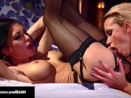 Милфа порно Stunning блондинка nikki Benz   Джессика Jaymes de muff Diving! секс видео