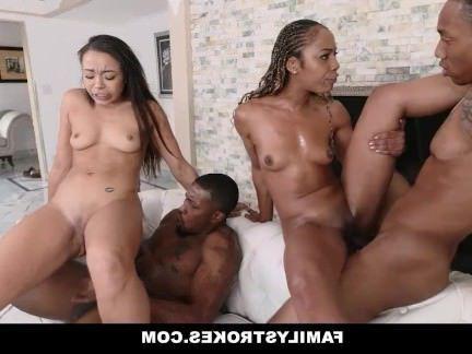 Милфа порно FamilyStrokes — Семейный Ужин Fuck Fest секс видео