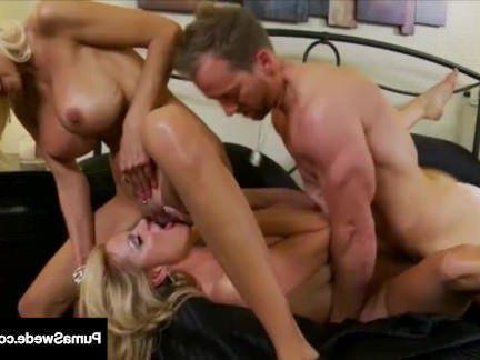Милфа порно Грудастая красотка Пума Швед и и Келли Мэдисон ебать муженька в 3-х способ! секс видео